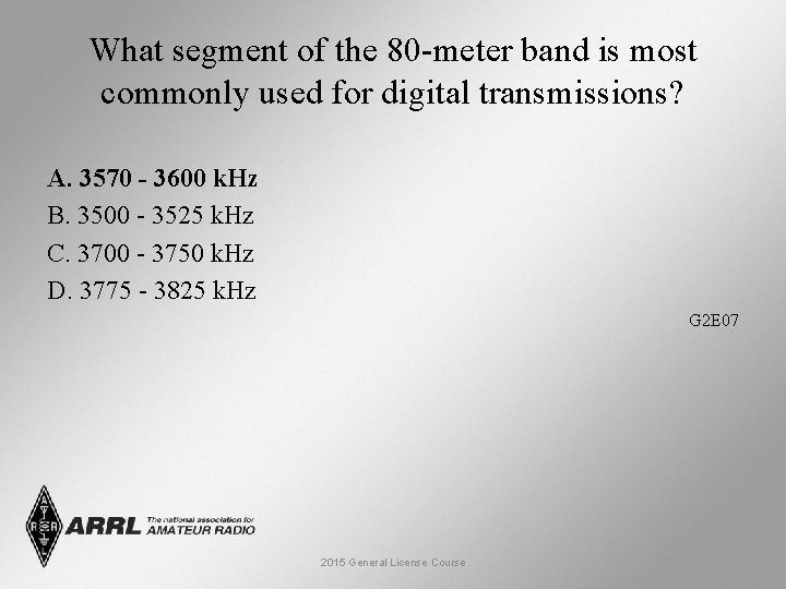 What segment of the 80 -meter band is most commonly used for digital transmissions?