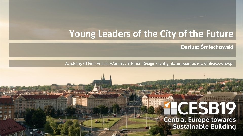 Young Leaders of the City of the Future Dariusz Śmiechowski Academy of Fine Arts