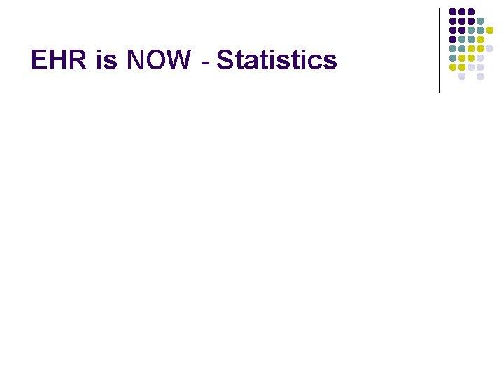 EHR is NOW - Statistics