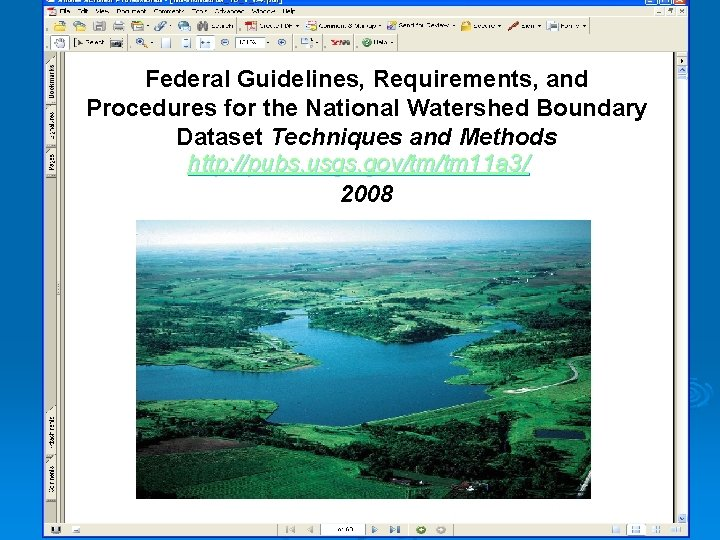 Federal Guidelines, Requirements, and Procedures for the National Watershed Boundary Dataset Techniques and Methods