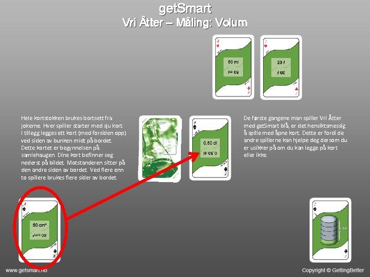 get. Smart Vri Åtter – Måling: Volum Hele kortstokken brukes bortsett fra jokerne. Hver