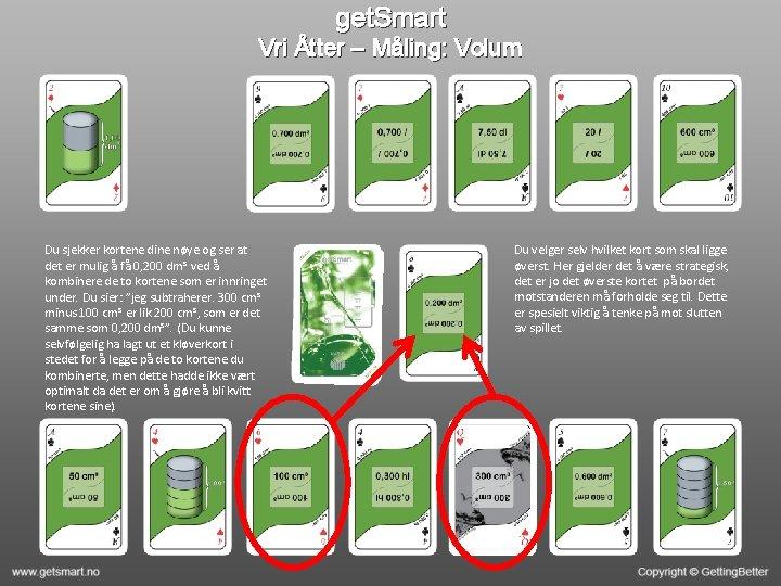 get. Smart Vri Åtter – Måling: Volum Du sjekker kortene dine nøye og ser