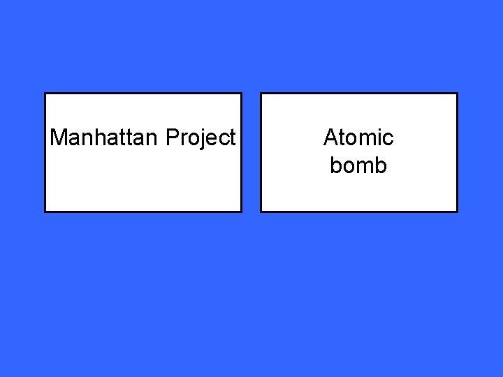 Manhattan Project Atomic bomb