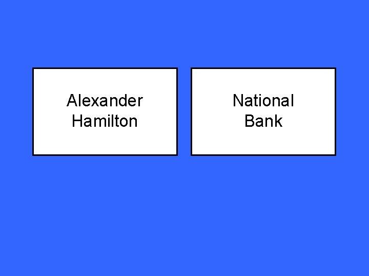 Alexander Hamilton National Bank