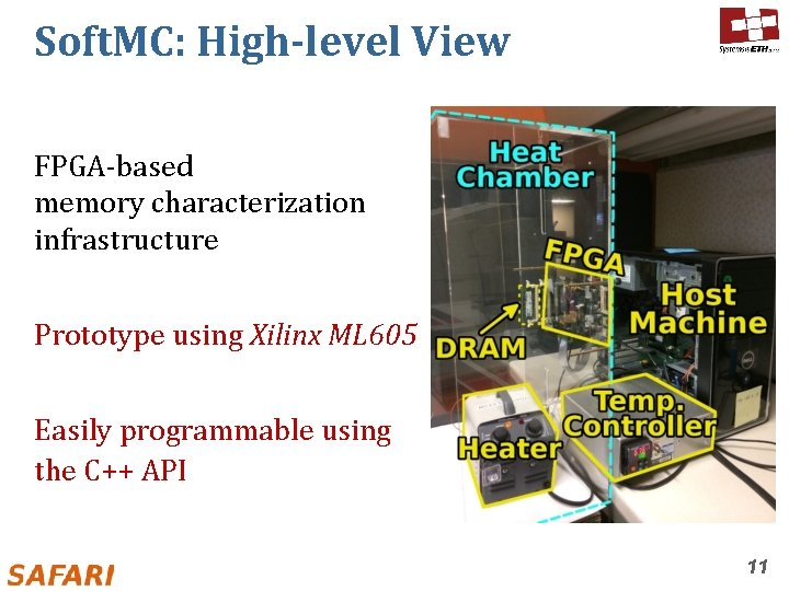 Soft. MC: High-level View FPGA-based memory characterization infrastructure Prototype using Xilinx ML 605 Easily