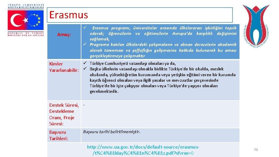 Erasmus programı, üniversiteler arasında ülkelerarası işbirliğini teşvik ederek; öğrencilerin ve eğitimcilerin Avrupa'da karşılıklı değişimini
