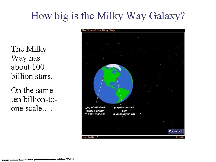 How big is the Milky Way Galaxy? The Milky Way has about 100 billion