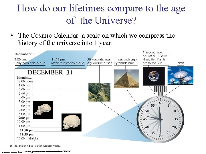 How do our lifetimes compare to the age of the Universe? • The Cosmic