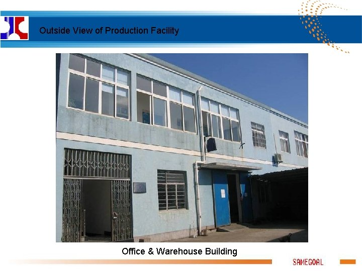 Outside View of Production Facility Office & Warehouse Building
