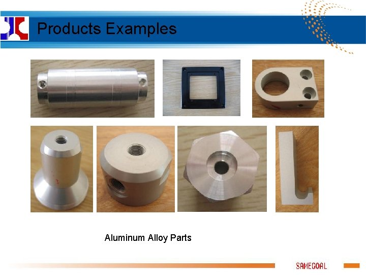 Products Examples Aluminum Alloy Parts