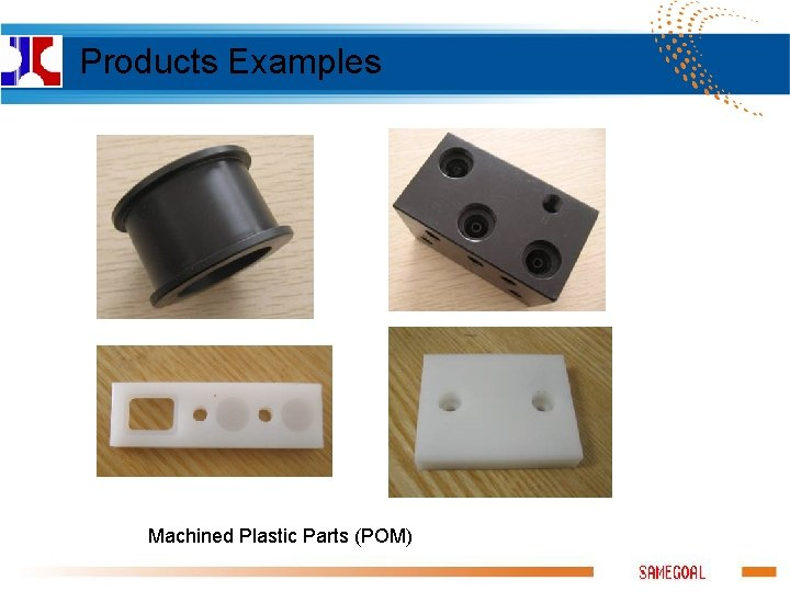 Products Examples Machined Plastic Parts (POM)