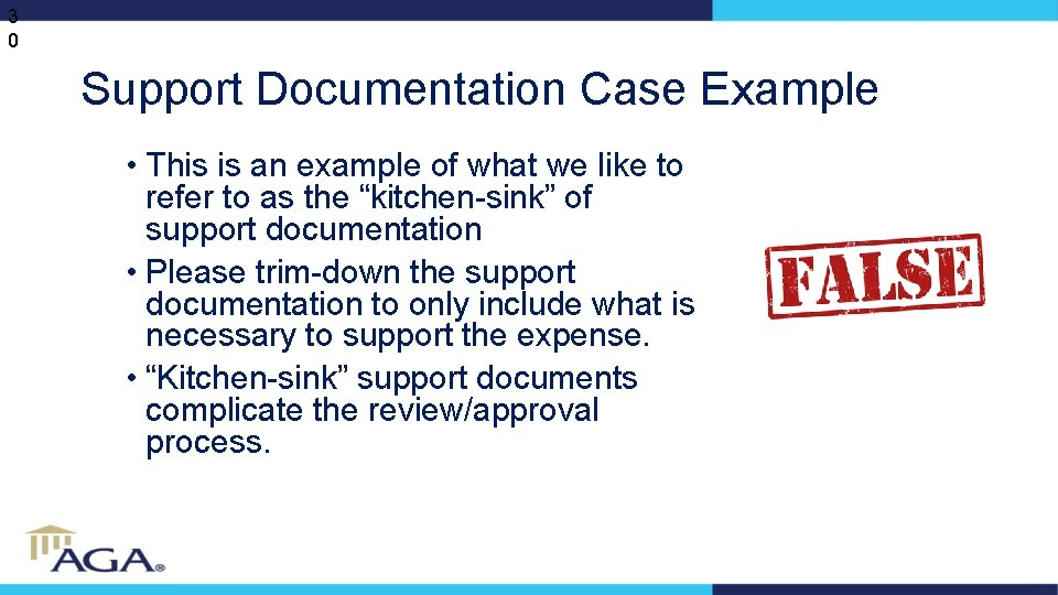 3 0 Support Documentation Case Example • This is an example of what we