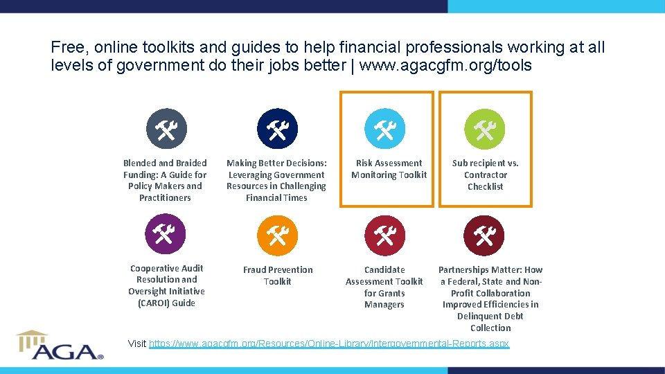 Free, online toolkits and guides to help financial professionals working at all levels of