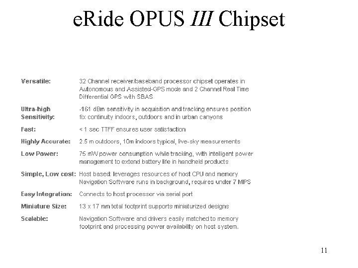 e. Ride OPUS III Chipset 11