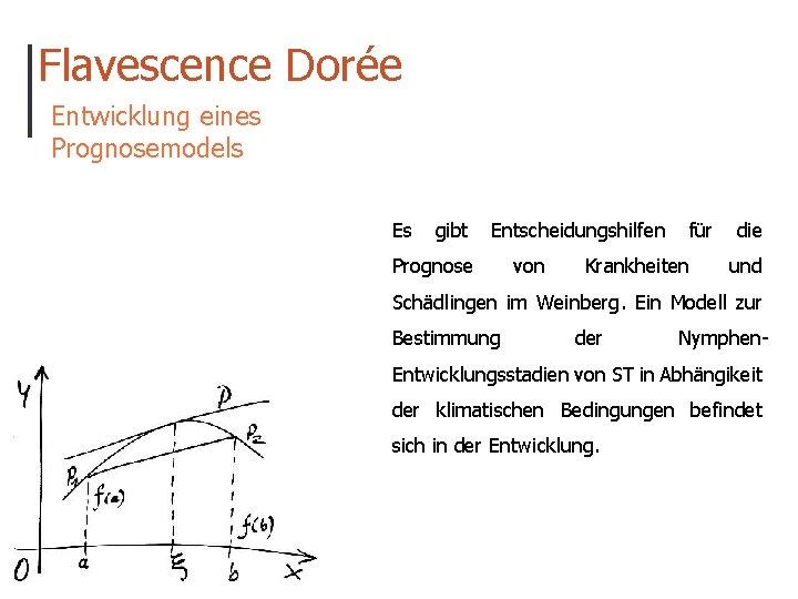 Flavescence Dorée Entwicklung eines Prognosemodels Es gibt Entscheidungshilfen Prognose von für Krankheiten die und
