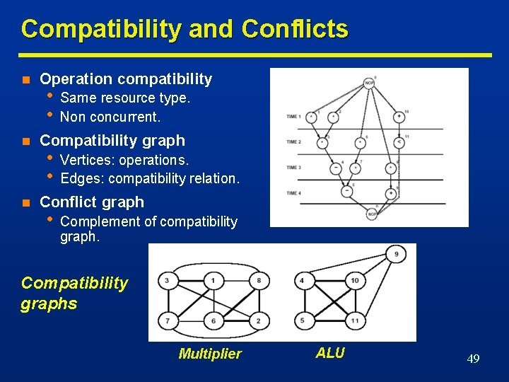 Compatibility and Conflicts n n n Operation compatibility • • Same resource type. Non