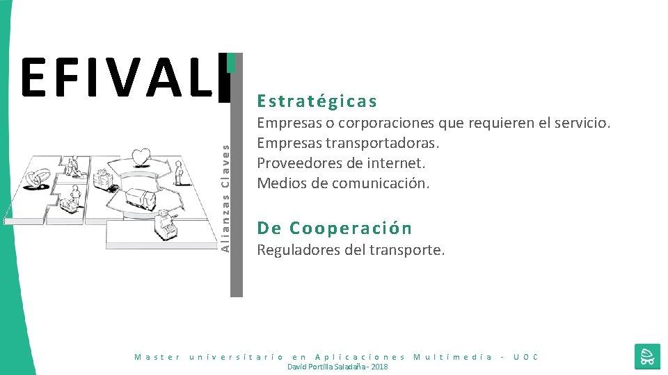 EFIVAL Alianzas Claves Estratégicas M a s t e r Empresas o corporaciones que