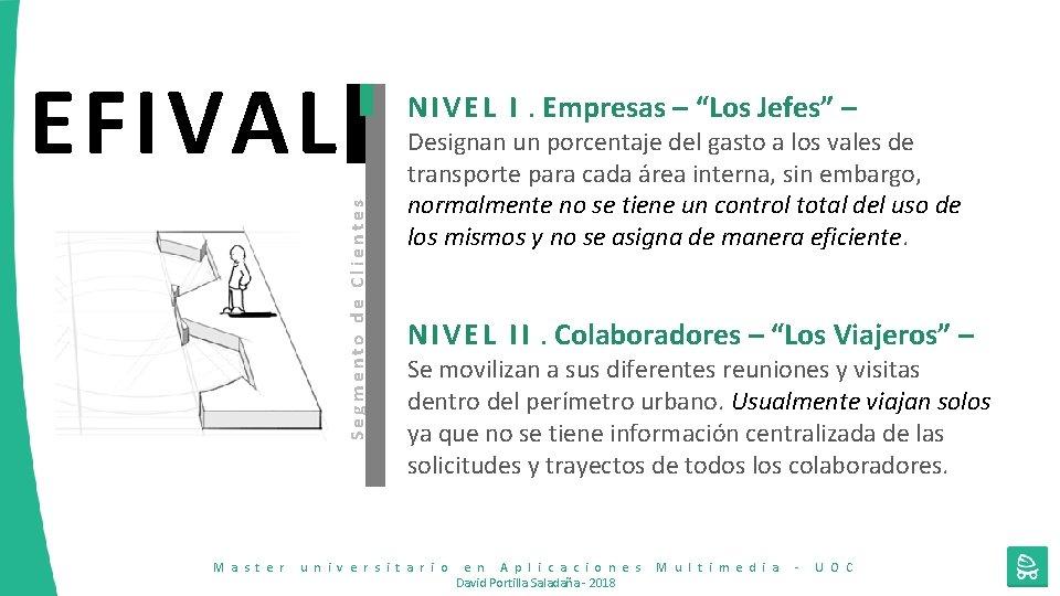 """EFIVAL Segmento de Clientes N I V E L I. Empresas – """"Los Jefes"""""""