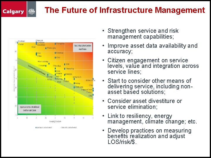 The Future of Infrastructure Management • Strengthen service and risk management capabilities; • Improve