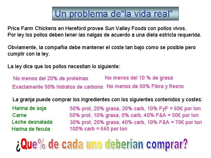 """Un problema de""""la vida real"""" Price Farm Chickens en Hereford provee Sun Valley Foods"""