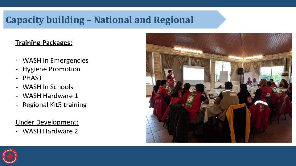 Capacity building – National and Regional Training Packages: - WASH In Emergencies Hygiene Promotion