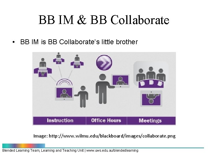 BB IM & BB Collaborate • BB IM is BB Collaborate's little brother Image: