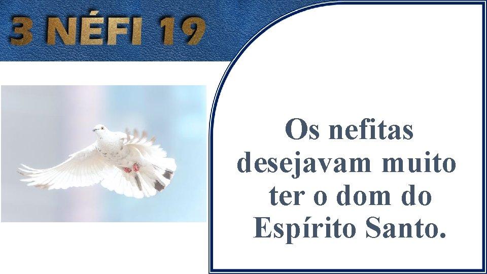 Os nefitas desejavam muito ter o dom do Espírito Santo.
