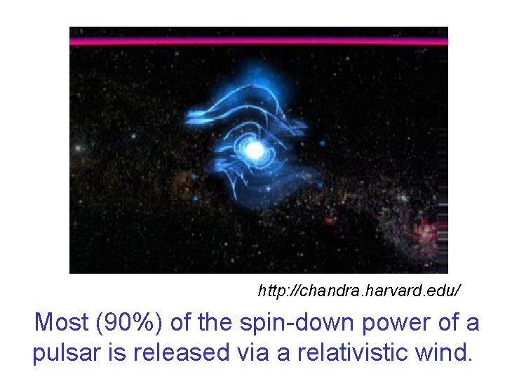 http: //chandra. harvard. edu/ Most (90%) of the spin-down power of a pulsar is