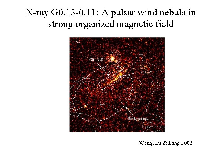 X-ray G 0. 13 -0. 11: A pulsar wind nebula in strong organized magnetic