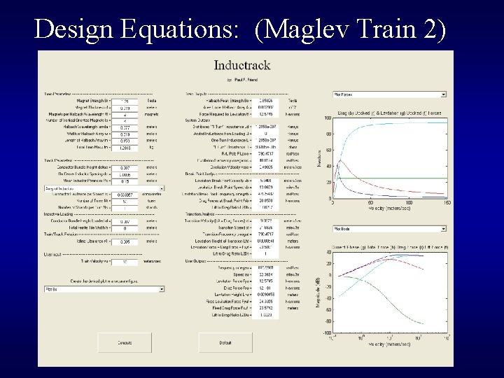Design Equations: (Maglev Train 2)