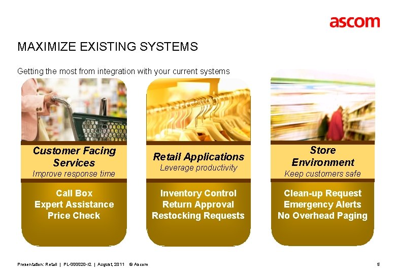 MAXIMIZE EXISTING SYSTEMS Getting the most from integration with your current systems Customer Facing
