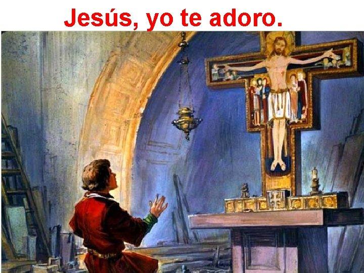 Jesús, yo te adoro.