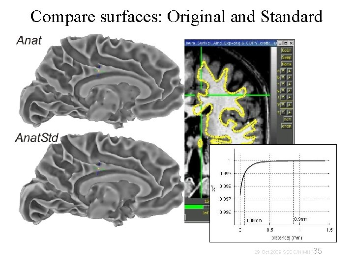 Compare surfaces: Original and Standard 35 29 Oct 2009 SSCC/NIMH