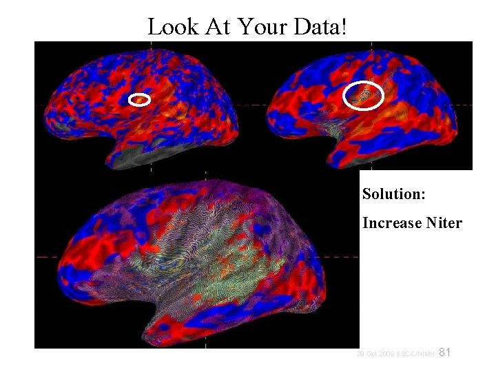 Look At Your Data! Solution: Increase Niter 81 29 Oct 2009 SSCC/NIMH