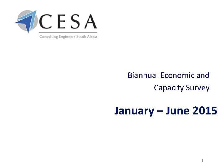 Biannual Economic and Capacity Survey January – June 2015 1