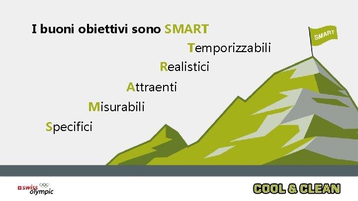 I buoni obiettivi sono SMART Temporizzabili Realistici Attraenti Misurabili Specifici