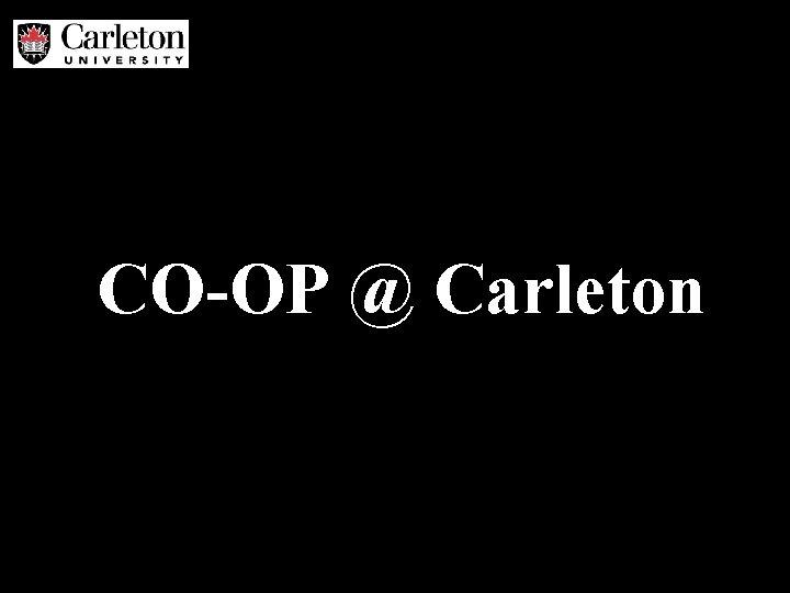CO-OP @ Carleton
