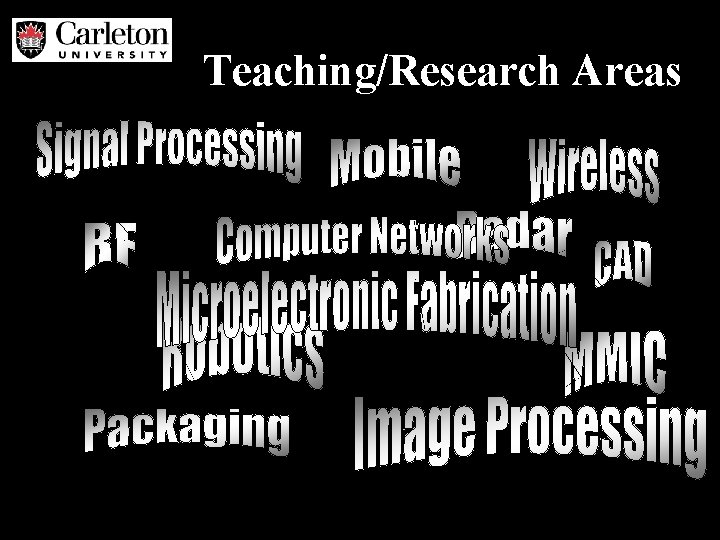 Teaching/Research Areas