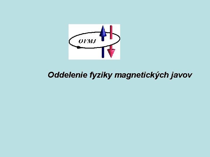 Oddelenie fyziky magnetických javov