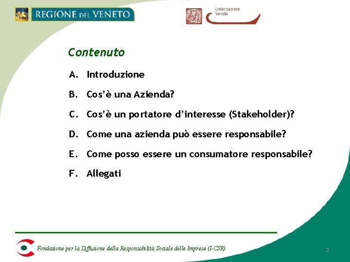 Contenuto A. Introduzione B. Cos'è una Azienda? C. Cos'è un portatore d'interesse (Stakeholder)? D.