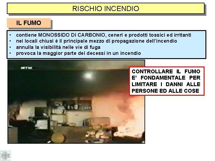 RISCHIO INCENDIO IL FUMO • • contiene MONOSSIDO DI CARBONIO, ceneri e prodotti tossici