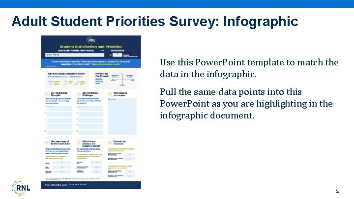 Adult Student Priorities Survey: Infographic Use this Power. Point template to match the data
