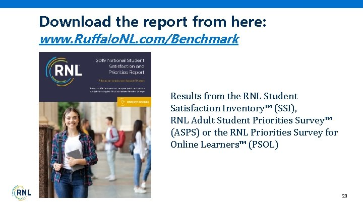 Download the report from here: www. Ruffalo. NL. com/Benchmark Results from the RNL Student