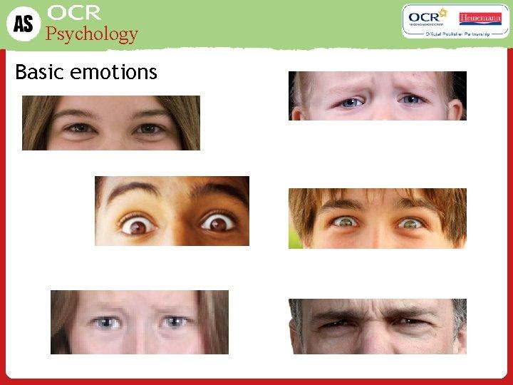 Psychology Basic emotions