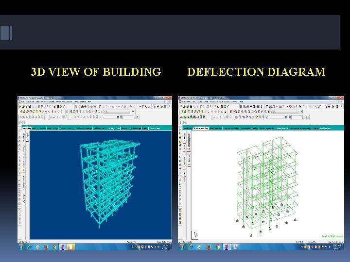 3 D VIEW OF BUILDING DEFLECTION DIAGRAM