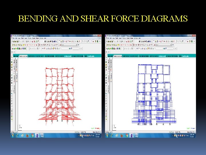 BENDING AND SHEAR FORCE DIAGRAMS