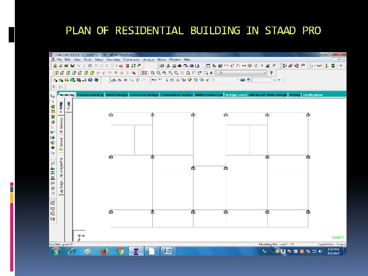 PLAN OF RESIDENTIAL BUILDING IN STAAD PRO