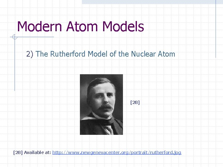 Modern Atom Models 2) The Rutherford Model of the Nuclear Atom [28] Available at:
