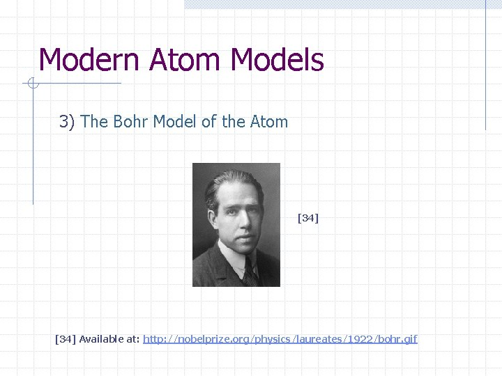 Modern Atom Models 3) The Bohr Model of the Atom [34] Available at: http: