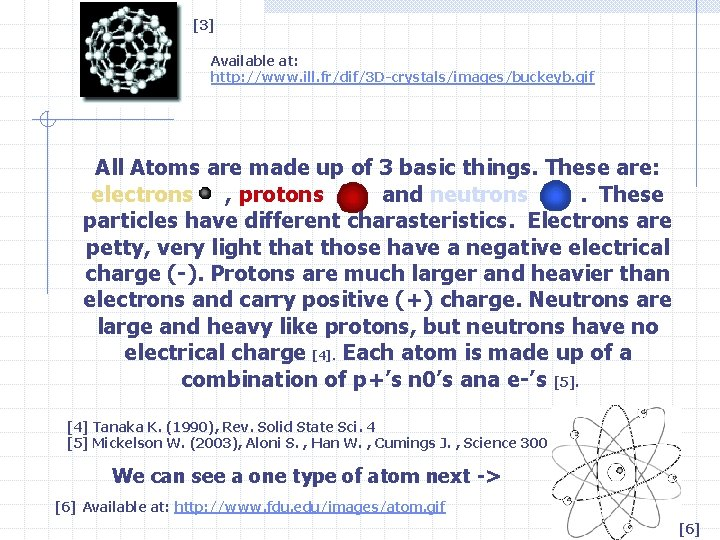 [3] Available at: http: //www. ill. fr/dif/3 D-crystals/images/buckeyb. gif All Atoms are made up